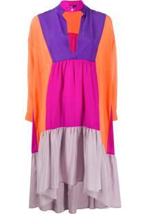 Jejia Colour-Block Tunic Dress - Laranja