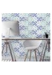 Papel De Parede Autocolante Rolo 0,58 X 5M - Azulejo Borboleta Flores 287040371