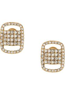 Salvatore Ferragamo Vara Plate Earrings - Dourado
