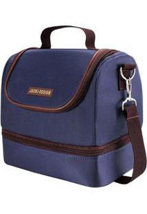 Bolsa Térmica Jacki Design Com 2 Compartimentos Masculino - Masculino-Azul+Caramelo