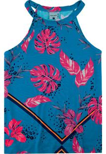 Blusa Azul Tropical