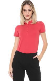 Camisa Polo Dudalina Lisa Vermelha