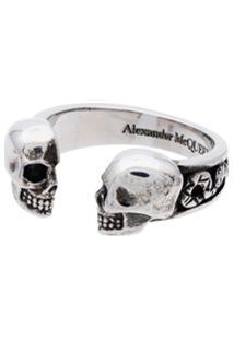 Alexander Mcqueen Anel Skull - Prateado