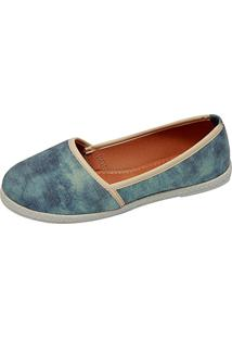 Alpargata Jane Jeans Delave Azul