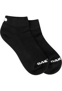 Meia Oakley Cano Baixo Mod Low Quarter Sock Masculina - Masculino-Preto