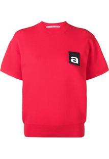 Alexander Wang Blusa Com Logo - Vermelho