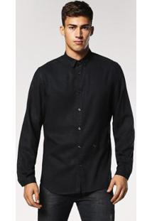Camisa De Manga Longa Diesel S-Jacqy Camicia | Masculina - Masculino-Preto