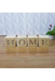 Cubo Decorativo Com Letras Em Acrílico Home