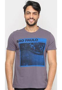 Camiseta Ellus Living In The Urban Jungle Masculina - Masculino-Chumbo