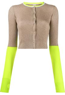 Pinko Lurex Knit Cardigan - Dourado