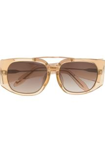 Linda Farrow Óculos De Sol Transparente - Marrom