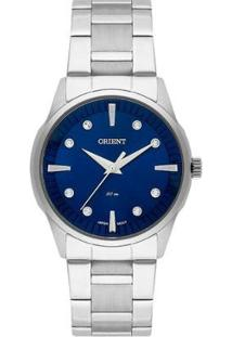 Relógio Orient Feminino Fbss0069 D1Sx - Feminino-Prata+Azul