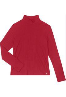 Blusa Feminina Canelada Vermelho