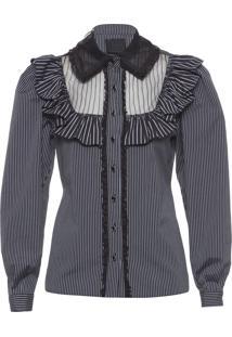 Camisa Feminina Nous Couture - Preto