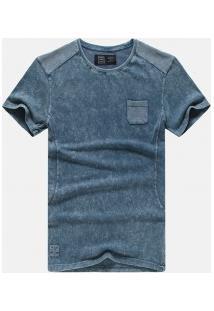 Camiseta Masculina Manga Curta - Azul Claro