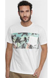 Camiseta Mood Tropical Bolso Masculina - Masculino