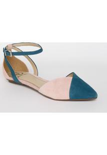 Sapatilha Bicolor - Azul Escuro & Rosa Clarodumond