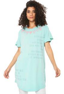 Camiseta My Favorite Thing(S) Alongada Verde - Kanui