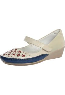 Sapato Fechado Laura Prado Confort Marfim