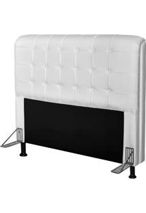 Cabeceira Para Cama Casal Box 195 Cm Califórnia Corino Branco - Js Móveis
