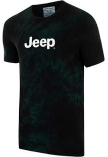 Camiseta Jeep Washed Tie Dye Masculina - Masculino