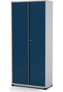 Armário De Aço Montável Econômico Ap408Sl Pandin - Cinza E Azul Del Rey
