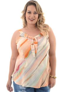 Blusa Domenica Solazzo Tie Dye Plus Size