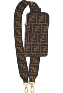 Fendi Strap You Ff Motif Shoulder Strap - Marrom