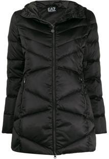 Ea7 Emporio Armani Short Puffer Jacket - Preto