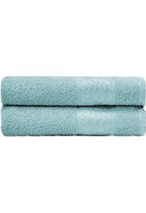 Toalha De Rosto Donna- Azul Claro- 45X70Cm- Camecamesa