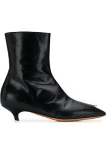 Marni Ankle Boot Clássica - Preto