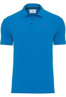 Polo Masculina Pique - Azul