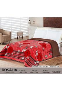 Cobertor King Dupla Face Duplo - Rosalia