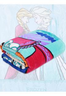 Cobertor Solteiro Lepper Frozen Azul 1,50 X 2,20