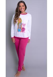 Pijamas Mvb Modas Longo Fechado Adulto Inverno Pink - Kanui