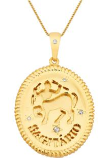 Colar La Madame Co Colar Medalha Signo Dourado - Kanui