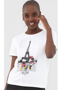 Blusa Cativa Disney Mickey E Minnie Branca - Kanui