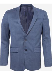 Blazer Dudalina Forro Completo Masculino (Azul Medio, 46)