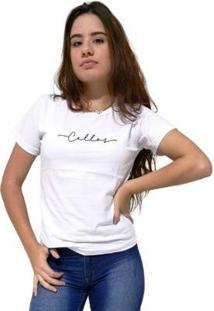 Camiseta Cellos Stretched Premium Feminina - Feminino-Branco