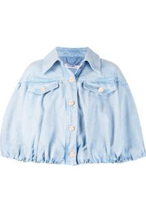 Vivetta Cropped Oversized Denim Jacket - Azul