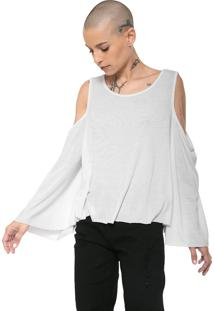 Blusa Cavalera Off Shoulders Branca