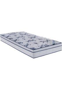 Colchão Comfort Pró Spring Solteiro- Branco & Azul- Ortobom