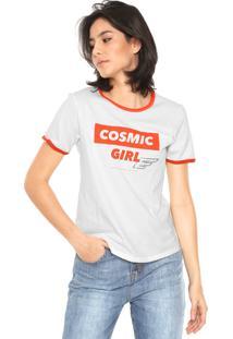Camiseta Ellus Cosmic Girl Off-White