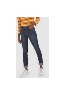 Calça Jeans Lacoste Skinny Estonada Azul-Marinho