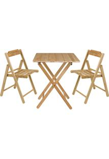 Conjunto Mesa E 2 Cadeiras Tramontina Beer 10630068 Dobrável