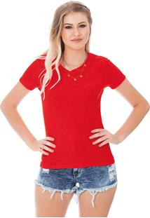 Blusa Decote V Vermelho