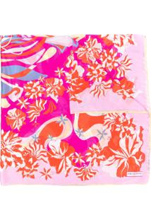 Emilio Pucci Echarpe Com Estampa Floral Abstrata - Rosa