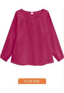 Blusa Pink Com Strass