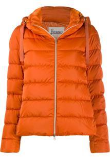 Herno Zip-Front Puffer Jacket - Laranja