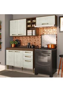 Cozinha Compacta Viena 6 Pt 2 Gv Marrom E Gelo